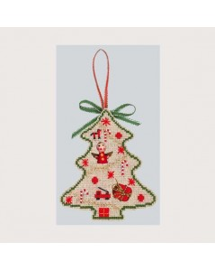 Kit broderie - sapin avec les jouets, cadeaux et anges. Le Bonheur des Dames.  Référence 2731