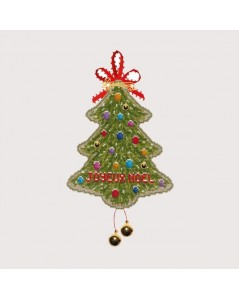 Merry Christmas Tree decoration to cross stitch. Embroidery kit n° 2733. Le Bonheur des Dames