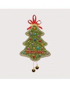 Sapin Joyeux Noël kit broderie point de croix. Le Bonheur des Dames. Référence 2733. Décoration Noël.