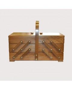 Sewing box brown wood (beech)