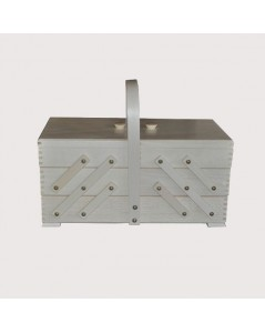 Sewing box white wood (large)