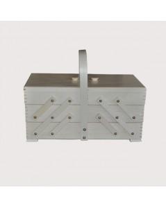 Sewing box white wood (large)