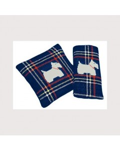 Scottish terrier navy blue