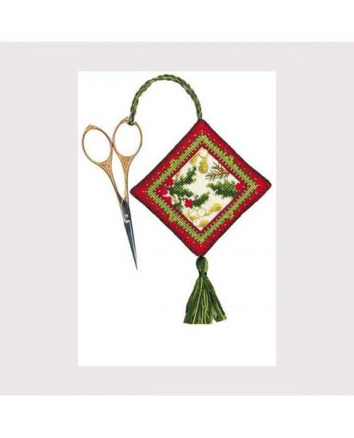 Winter. Scissor-holder, counted cross stitch accessory to embroider. Le Bonheur des Dames 3351