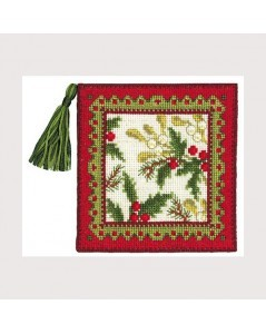 Pin-cushion winter. Counted cross stitch embroidery kit. Aida 7 pts/cm. Le Bonheur des Dames 3451