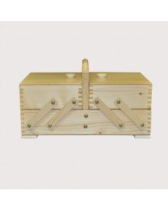 Sewing box white wood