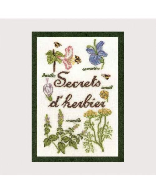 Herbarium Secrets. Model to embroider by petit point. Le Bonheur des Dames. 3617