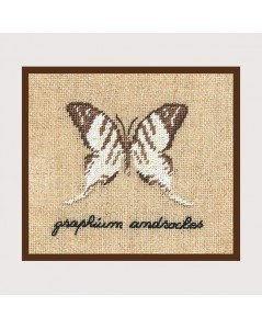 White butterfly miniature