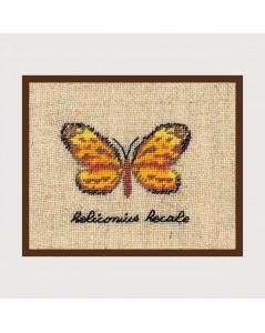 Yellow butterfly miniature