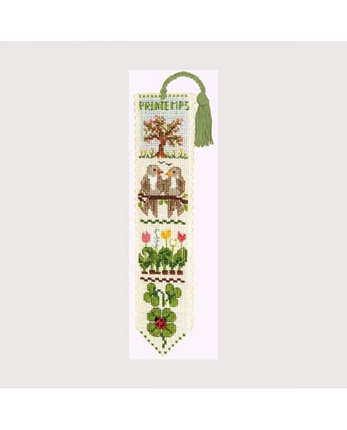 Bookmark Spring. Motive: Birds and flowers. Le Bonheur des Dames. 4532