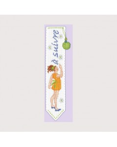 Bookmark young girl with yellow dress
