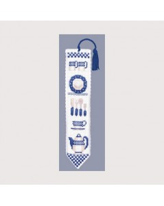 Bookmark blue dishes