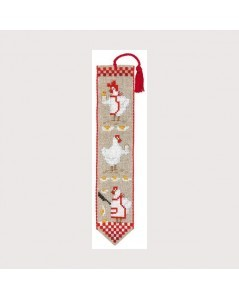 Bookmark Hens. Counted cross stitch embroidery. Le Bonheur des Dames. 4561