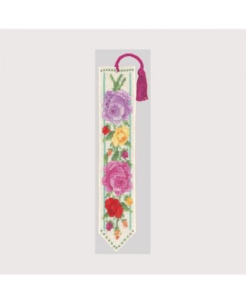 Bookmark multicoloured Roses