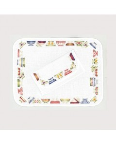 Placemat et table napkin ring bowls