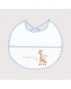Blue birthday bib