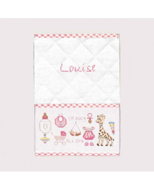 Birthday health record cover pink