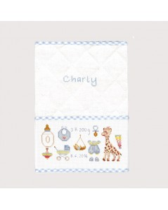 Child's health record cover blue