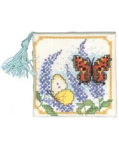 Needles case butterflies & buddleia