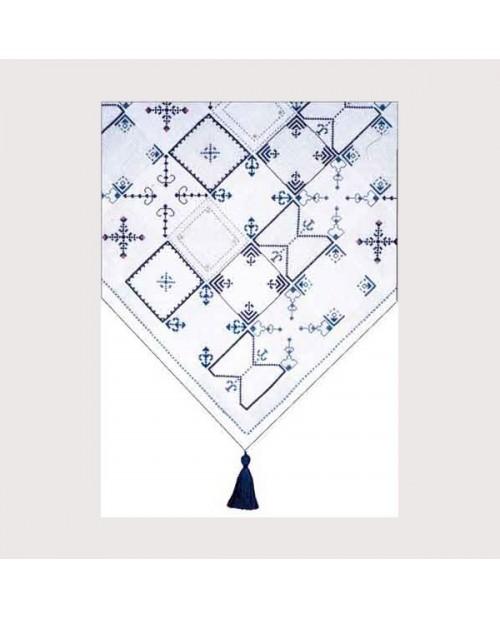 Blue mosaic tablecloth