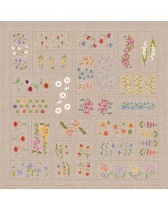 Flower patchwork tablecloth