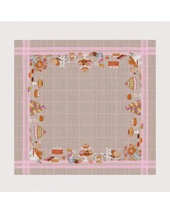 Tablecloth with sweets