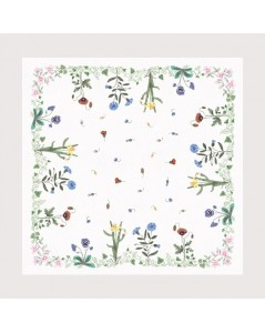 Printed tablecloth Flower frieze