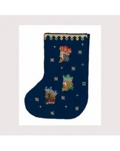The three wise men. Stocking to stitch and to sew. Counted cross stitch. Le Bonheur des Dames 7040