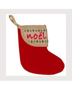 Christmas stocking with Christmas border