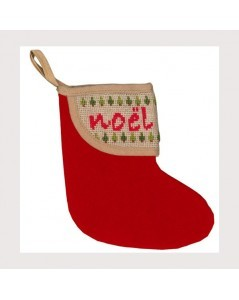 Christmas stocking with Christmas border