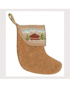 Christmas stocking with chalet border