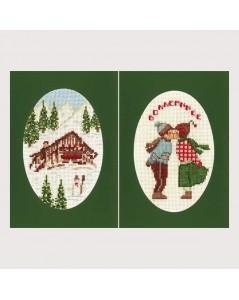 2 greetings cards
