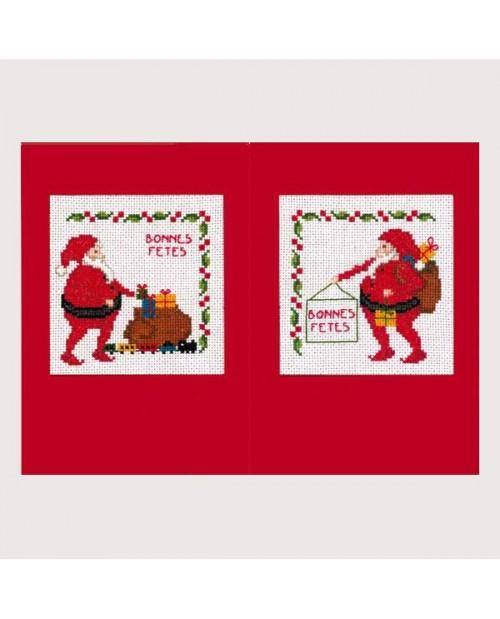 2 Santa Claus Cards