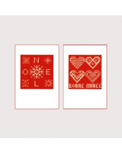 2 greeting cards Happy Holidays