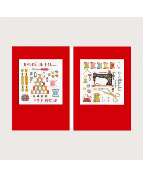 2 greeting cards Couture