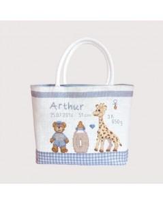 Handbag couture Child - blue