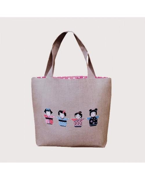 Handbag couture Kokeshis
