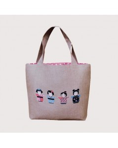 Handbag couture Kokeshis - sewn