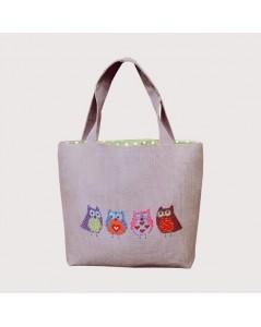 Handbag couture Chouettes - sewn