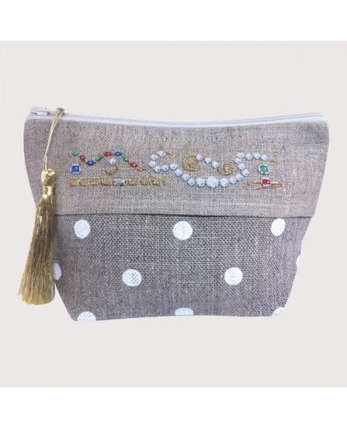 Linen case to stitch by petit point. Motif: Jewelry. Le Bonheur des Dames. 9017