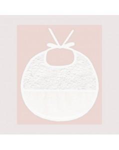 White terry bib