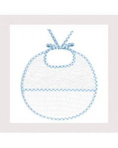 Blue gingham terry bib