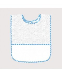 Blue gingham terry bib 6 months+