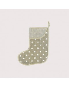 Shoe with white stars