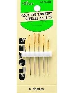 Gold Eye Tapestry Needles No. 18-22