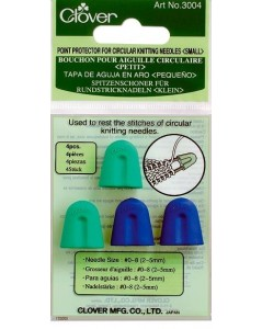 Point protector for circular knitting needles
