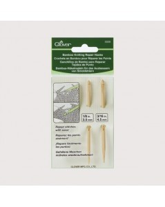 Bamboo knitting repair hooks