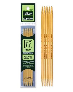 TAKUMI Bamboo Knitting Needles 16 cm