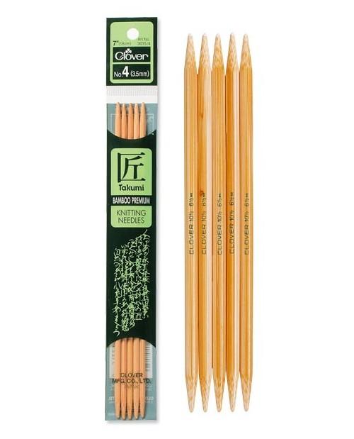 TAKUMI Bamboo Knitting Needles 20 cm