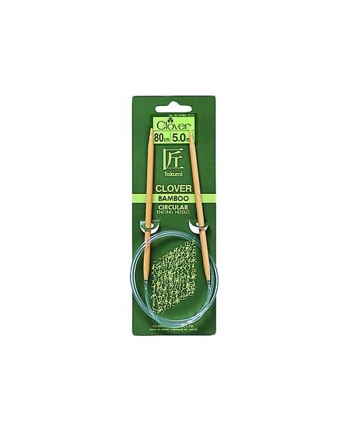 TAKUMI Bamboo Circular Knitting Needles 80 cm